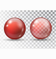 transparent red ball vector image