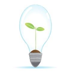 Tree bulb lamp vector
