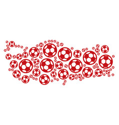 Turkey map composition of soccer balls vector