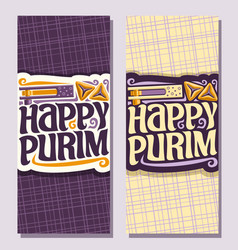 Vertical banner for purim vector