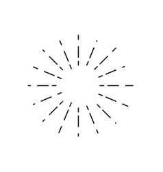 vintage sunburst light rays firework sparks vector image