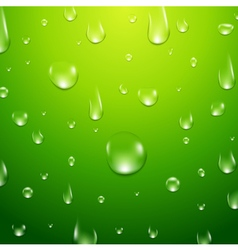 Water drops background Fresh aqua or healthy clean vector image