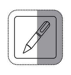 Whitte emblem ballpoint icon vector