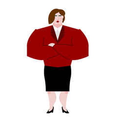 Woman boss female bank businesswoman in suit vector