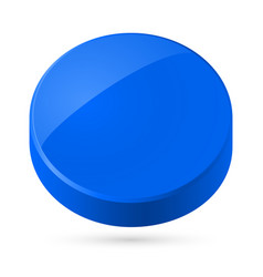 blue disk isolated on white background vector image
