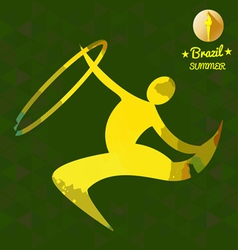 Brazil summer sport card with an yellow abstract r vector image vector image