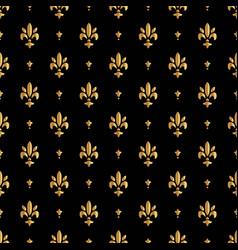 fleur de lis pattern silhouette - heraldic symbol vector image vector image