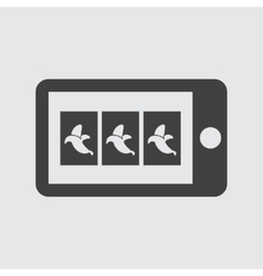 Mobile game icon vector image