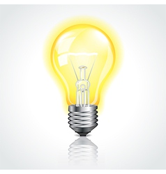 object bulb on vector image vector image