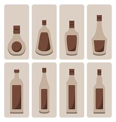 Set of alcohol bottle vector