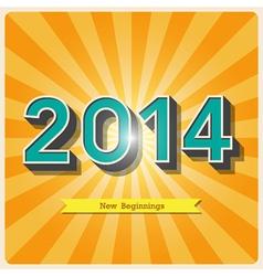2014 retro poster EPS10 vector image vector image