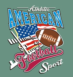 athletic american football vector image vector image