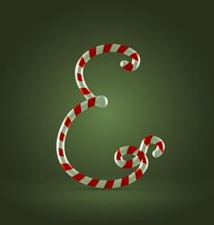 Candy cane abc E vector image vector image