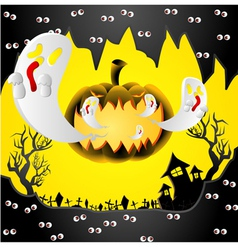creative halloween design with space vector image