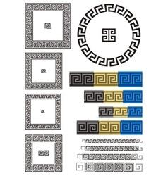greek key pattern vector image