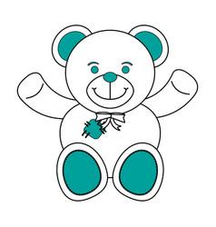 isolated teddy bear design vector image