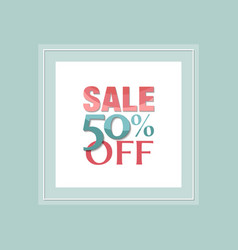 Sale and discount poster vector
