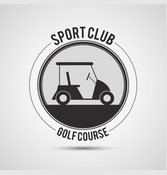 Sport club golf course car vector