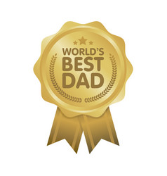 World best dad badge award vector