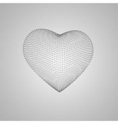 3d heart shape vector