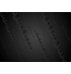 Dark black abstract background vector image vector image