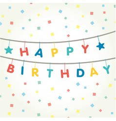 garland that says happy birthday vector image