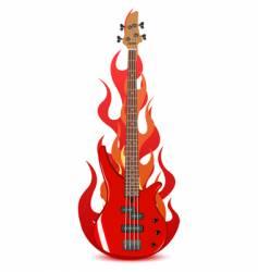 illustration of bass guitar vector image