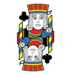 Jack of Clubs no card vector image vector image