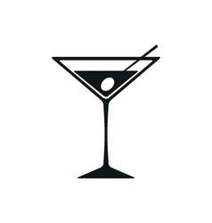 Martini Icon Isolated on White Background vector image vector image