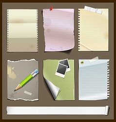 Paper collections design background vector image vector image