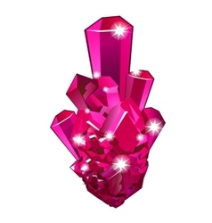 Piece of raw crystal ruby isolated vector image vector image