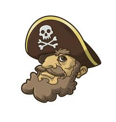 Pirate head mascot vector