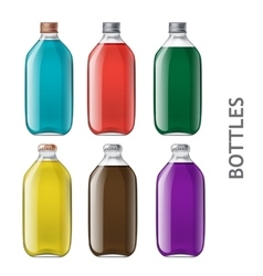 Set of realistic bottles vector image vector image