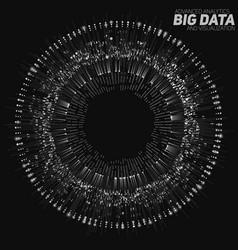 big data circular grayscale vector image