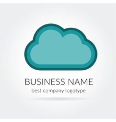 cloud logo isolated on white background vector image