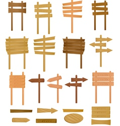 collection of wooden sign vector image vector image