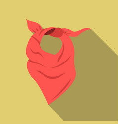 cowboy scarf icon flate singe western icon from vector image vector image