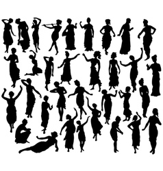 Silhouette of greek woman vector image vector image