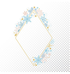 snow flake frame transparent background xmas vector image vector image