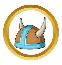 Swedish viking helmet icon vector image