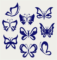 Various butterflies vector image