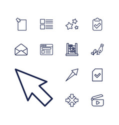 13 interface icons vector