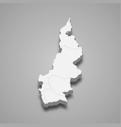 3d isometric map west sulawesi is a province vector