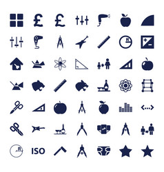 49 geometric icons vector