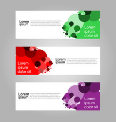 abstract geometric banner web template vector image