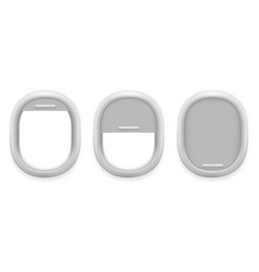 airplane window inside white plastic open vector image