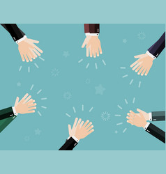applause clapping hands business concept vector image