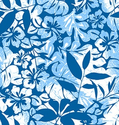 Blue Tropical seamless pattern vector