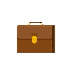 Briefcase isolated on white vector image