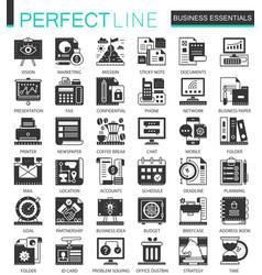 business essential classic black mini vector image